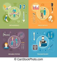 Beelden, plat, orthopedie,  traumatology,  2x2