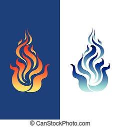 beelden, vuur, logo