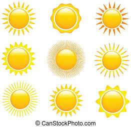 beelden, zon stel