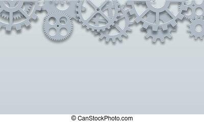 beeldmateriaal, moderne, mechanisme, industriebedrijven, concept., technologie, toestellen, achtergrond., 4k, animatie