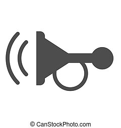 Beep solid icon. Horn vector illustration isolated on white. Car signal glyph style design, designed for web and app. Eps 10.