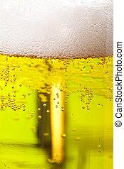 Beer against green