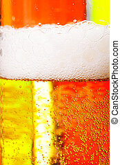 Beer against red and green
