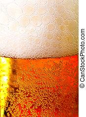 Beer against red