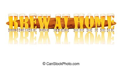 BEER ALPHABET letters BREW AT HOME