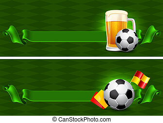 Beer and Soccer Ball