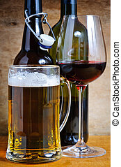 Beer and wine drinks - Beer and wine alcohol drinks