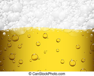 Beer background - Background with beer and foam. Eps 10