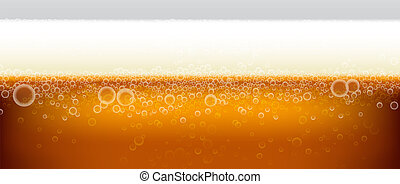 beer background with foam
