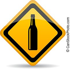 Beer bar vector sign on white background