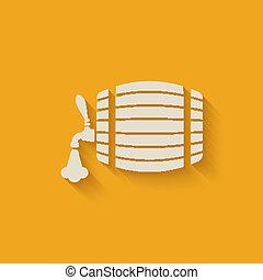 beer barrel background - vector illustration. eps 10