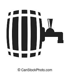 beer barrel drink wooden icon vector illustration design