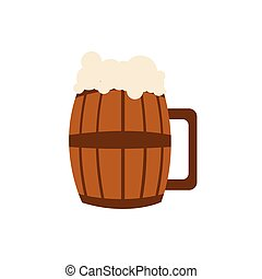 Beer Barrel Glass Vector Graphic Illustration Design