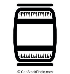 Beer barrel icon on a white background, Vector illustration