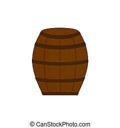 Beer Barrel Icon - Vector isolated on white background
