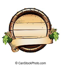 Beer barrel label