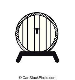 Beer barrel outline - Outline of a beer barrel, Vector...