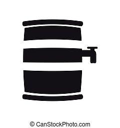 Beer barrel silhouette - Silhouette of a beer barrel, Vector...