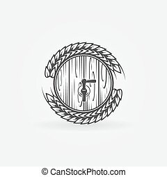 Beer barrel vector logo