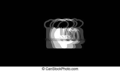 Beer, beer mug, cheers, glass beer Icon Old Vintage Twitched Bad Signal Screen Effect 4K Animation. Twitch, Noise, Glitch Loop with Alpha Channel.