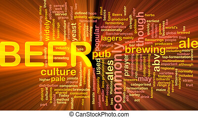 Beer beverage background concept glowing - Background...