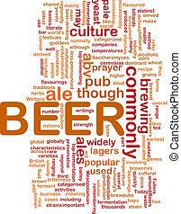Beer beverage background concept