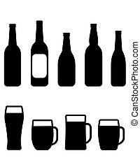 beer bottle and mug set