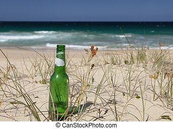 beer bottle beach