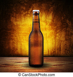 Beer Bottle - Bottle of Cold Beer