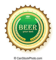 beer, bottle cap - Illustration of bottle cap from beer, on...