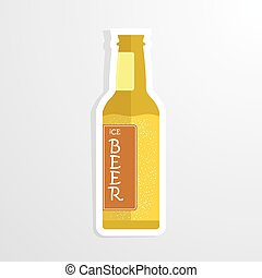 beer bottle cheers vector illustration