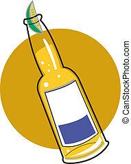 Beer bottle clip art - Beer bottle with a slice of lime clip...