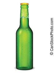 Beer Bottle - illustration of beer bottle on white...