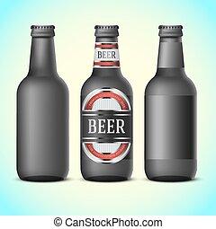 beer bottles and glasses vector. Black Bedroom Furniture Sets. Home Design Ideas