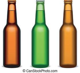Beer bottles.