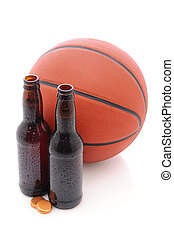 Beer Bottles with Basketball