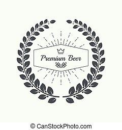 Beer brewery emblems, logo, label, design element. For pub...