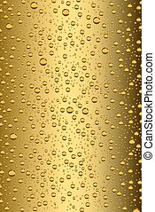 Beer bubbles background, vector illustration
