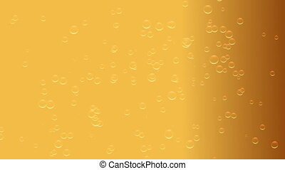 beer bubbles in the glass of beer
