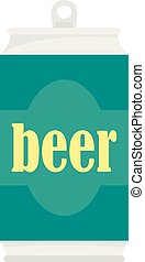 Beer can icon, flat style