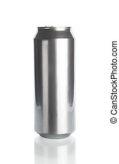 Beer can isolated on white