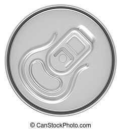 beer can top view