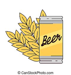 beer can with spike on white background