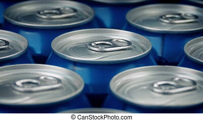 Beer Cans Closeup
