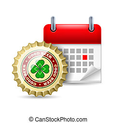 Beer cap and calendar