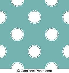 Beer cap pattern seamless blue