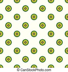 Beer cap pattern seamless