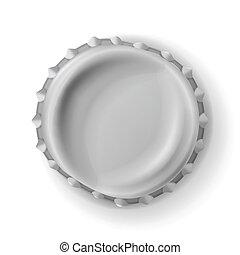 Beer Cap Vector. Curved Beer Cap. Realistic Illustration