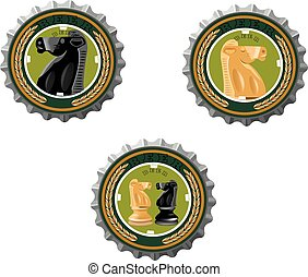 beer cap with horse image