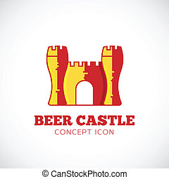 Beer Castle Vector Concept Symbol Icon